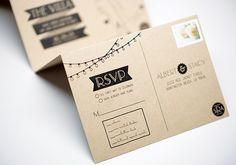 Wedding package including: custom alphabet, monogram, and invitation featuring illustration.