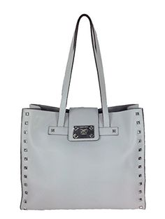 Women's Shoulder Bags - Vince Camuto Shana Studded Leather Tote Pale Grey * You can get more details by clicking on the image.