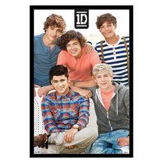 Trends International One Direction Group Framed Poster - FR5781BLK22X34