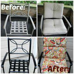 Patio Chair Makeover with Krylon Rust Protector Spray Paint