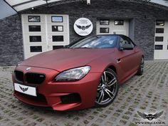 BMW 6 cabrio red aluminium