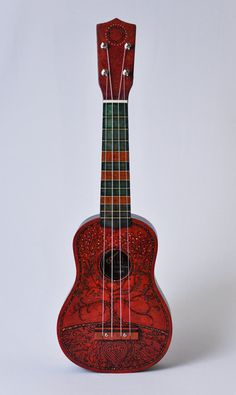 Ukulele  Hand Painted  Each one unique by roxywhite on Etsy, $171.50