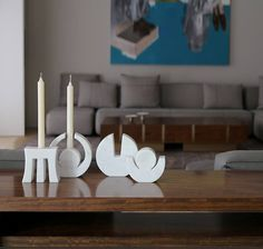 """""""Thryalis"""" handmade, marble candle holders, designed and produced by #TwoIsCompany"""