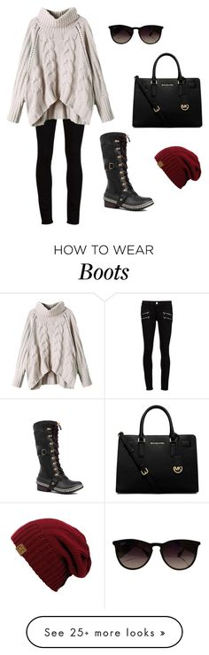 """Women's Sorel Conquest Carly Waterproof Boots"" by merakilane on Polyvore featuring Paige Denim, SOREL, MICHAEL Michael Kors and Ray-Ban"