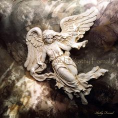 "Angel Art Note Card - Ethereal Angel Art - Heavenly Angel Art - Fine Art Frameable Angel Art Card 5"" x 7"". 6.00, via Etsy."