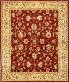 Peshawar 5th Avenue Red Beige Wool   Rug