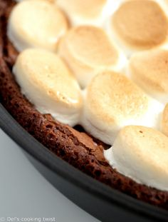 Smores Chocolate and Salted Caramel Brownie