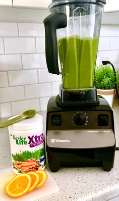 A huge boost of vitamins, minerals, enzymes, aminos, phytonutrients in one glass! Barley life is a mix of 18 vegetables and fruit added to this smoothie for optimal nutrition 👍