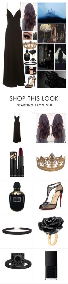 """Evil queen #5"" by disapproval ❤ liked on Polyvore featuring Prada, Alexander McQueen, Christian Louboutin, Humble Chic, Nach Bijoux, NARS Cosmetics and Lancôme"