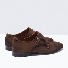 ZARA - MAN - SUEDE MONK SHOES WITH BUCKLES