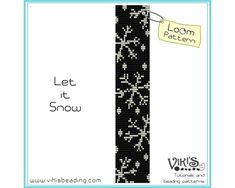 Loom Pattern - Let it Snow -  INSTANT DOWNLOAD pdf - Buy 2 Get 1 free with coupon codes - bl158