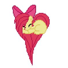 pixel art Apple Bloom heart heart mlp bloom apple by FurryRaver4life piq