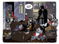 Catwoman the Cat Lady (by *caanantheartboy) #CatWoman