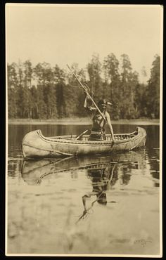Ojibway Fisherman by Roland W. Reed, no name, date or location