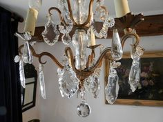 Antique French Crystal Chandelier. Crystal by AngelFrenchAntiques