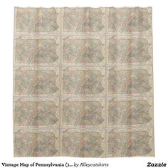 Vintage Map of Pennsylvania (1891) Shower Curtain