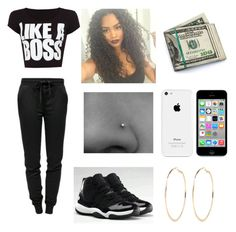 """""""Untitled #457"""" by diamondfoster919 ❤ liked on Polyvore featuring T By Alexander Wang, River Island, WearAll and NIKE"""