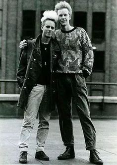 Martin Gore and Andy Fletcher of Depeche Mode