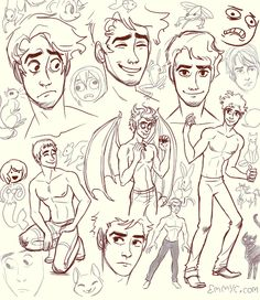 "Drawing Man Not to take away from how good these sketches are, but I can't get over how the mermaid on the far left is looking at the guy like ""oh wow hey!"" And then her again just a little higher and slightly to the right hahaha crazy face - Character Design Cartoon, Character Design References, Character Drawing, Character Design Inspiration, Character Illustration, Character Sketches, Comic Character, Character Concept, Guy Drawing"