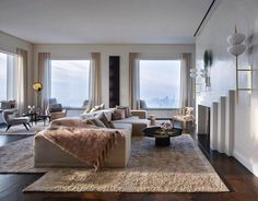 """1stdibs: """"A lofty perch high in the sky over Manhattan is quite literally the height of luxury. Tour these sumptuous spaces, and then shop for items…"""""""
