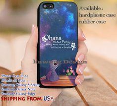 Ohana Lilo and Stitch Quotes iPhone 6s 6 6s  5c 5s Cases Samsung Galaxy s5 s6 Edge  NOTE 5 4 3 #cartoon #animated #disney #Lilo&Stitch dl14