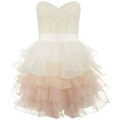 Lipsy V I P Ruffle Prom Dress found on Polyvore