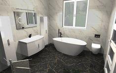 Praca konkursowa z wykorzystaniem mebli łazienkowych z kolekcji ROUND #naszemeblenaszapasja #elitameble #meblełazienkowe #elita #meble #łazienka #łazienkaZElita2019 #konkurs Clawfoot Bathtub, Bathroom, Design, Washroom, Bathrooms, Bath