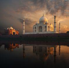 The glorious Taj Mahal in India in all its splendour