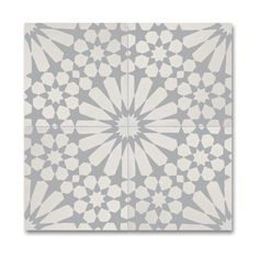 Agdal Grey and White Handmade Cement/ Granite 8 x 8-inch Floor and Wall Tile (Morocco) (Pack of 12)