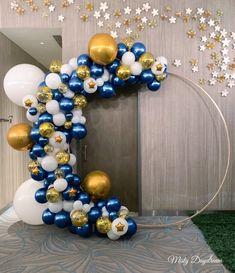 Best 12 Midnight Blue and Gold Balloon Garland, Balloons, Balloon Garland Kit, Bridal Shower, Anniversa – SkillOfKing. Diy Birthday Decorations, Baby Shower Decorations For Boys, Balloon Decorations Party, Boy Baby Shower Themes, Baby Shower Balloons, Balloon Garland, Birthday Balloons, Birthday Parties, Star Baby Showers