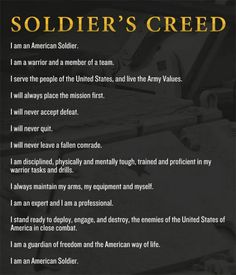 For Eric... Soldier's Creed