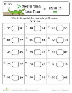49 Best Greater than less than images | Math activities, Math ...