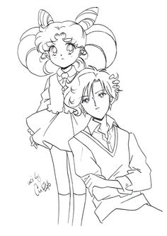 Chibiusa and Helios by Ash