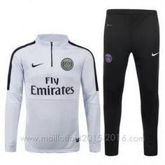 Nike Veste 1/4 zip blanc PSG 2015