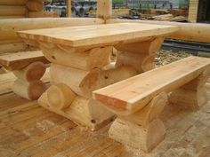 Serious Log Table and Benches