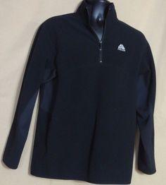 Nike ACG Men's Polyester Fleece Black Half zip Sweater Size M #Nike #12Zip