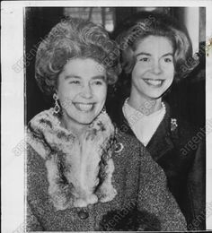 Queen Consort Frederika (Princess of Hanover) of the Hellenes with her youngest daughter Princess Irene of Greece and Denmark