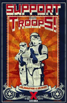 Star Wars: Support Our Troops Star Wars Poster, Star Wars Art, Stargate, Star Wars Prints, Star Wars Images, Cool Posters, Space Posters, Pokemon, Geek Art