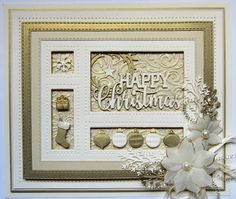 Hello there my crafty friends!  It's shadow box time again!  Today's video shows you some lovely ideas for using the Christmas themed...