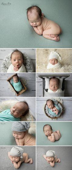 4 week old newborn photo shoot in studio with Sunny S-H Photography Winnipeg.