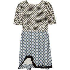 Stella McCartney Nesbitt printed crepe dress ($2,170) ❤ liked on Polyvore