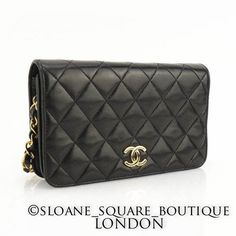 bc507956ad55 Authentic-CHANEL-Vintage-WOC-Black-Lambskin-Quilted-Wallet-On-Chain-Bag-GHW