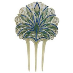 Preowned Art Nouveau Celluloid And Diamonte Hair Comb (27.815 RUB) ❤ liked on Polyvore featuring accessories, hair accessories, hair, art nouveau, grey, rhinestone hair comb, hair comb accessories, hair comb, rhinestone comb and leaf hair accessories