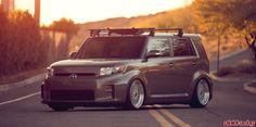 Scion xB Gen 2 Stance with ESM Wheels and KSport Coilovers - http://www.vividracing.com/blog/wp-content/gallery/toyota___scion/codyxb-2.jpg