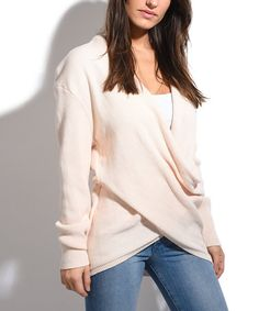 Look what I found on #zulily! Off-White Crossover Sweater - Women #zulilyfinds