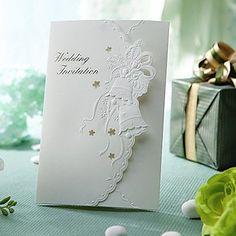 Vintage Wedding Bell Embossed Folded Invitation (Set of Wedding Bells, Wedding Cards, Wedding Events, Wedding Stuff, Wedding Invitations Online, Embossed Cards, Invitation Set, 50th, Place Card Holders