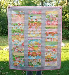 Modern Quilt  Toddler Bed Size  Stack of by FreshLemonsQuilts, $145.00