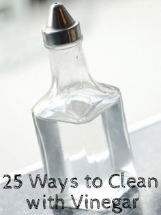 25 ways to use vinegar for household cleaning www.remodelaholic.com #vinegar #cleaning
