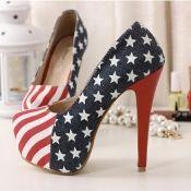 $16.99 2012 Europen Styles Night Club Thick Platform High Stilletto Heels Blue Women Shoes