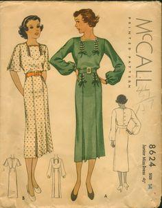 1930s McCall dress pattern